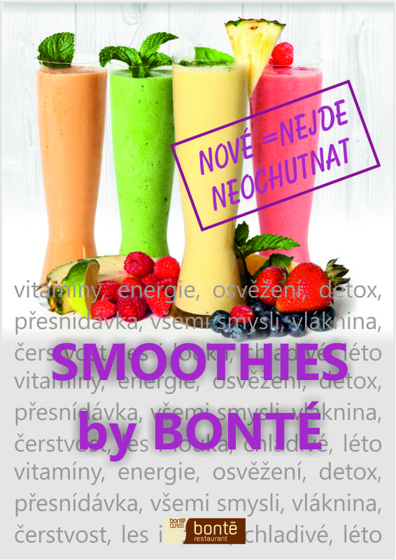 Smoothies v Bonté restaurantu